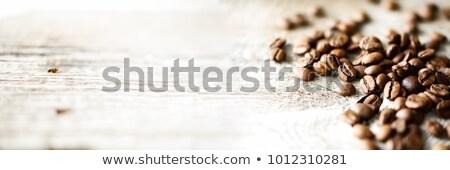 Bandeira grãos de café grão branco café Foto stock © Illia