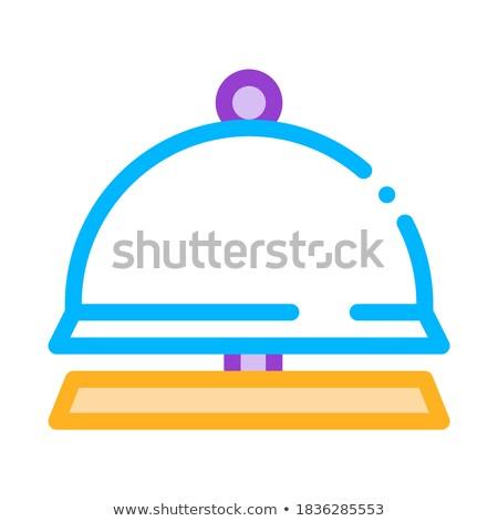 Recepcji wyposażenie dzwon wektora cienki line Zdjęcia stock © pikepicture