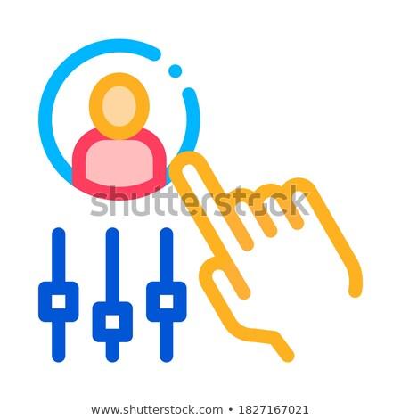 стороны человека силуэта проворный вектора Сток-фото © pikepicture