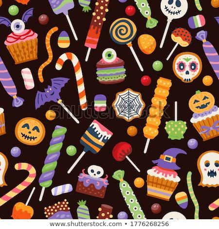 Végtelen minta zselés bab étel cukorka tapéta minta Stock fotó © bluering