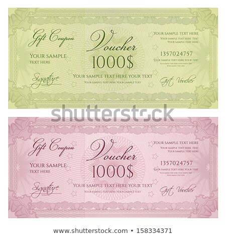 vector guilloche rosettes certificate or diplomas stock photo © fotoscool