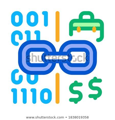 двоичный код деньги икона вектора иллюстрация Сток-фото © pikepicture