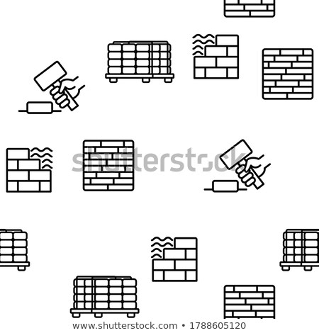 laying tiles icon vector outline illustration Stock photo © pikepicture