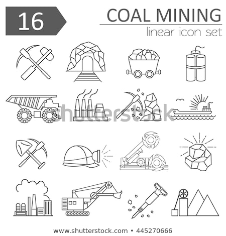 coal trolley icon vector outline illustration Stock photo © pikepicture