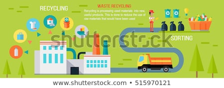 Sorting, Processing and Recycling for Trash Vector Stock photo © robuart