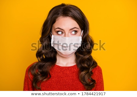 Horrible portrait of a sick woman on coronavirus background Stock photo © olira