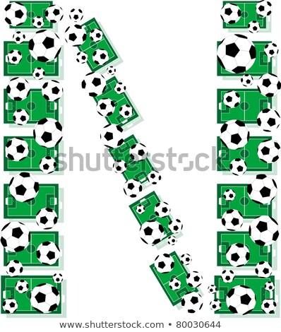 alfabeto · futebol · cartas · futebol · campos - foto stock © fotoscool