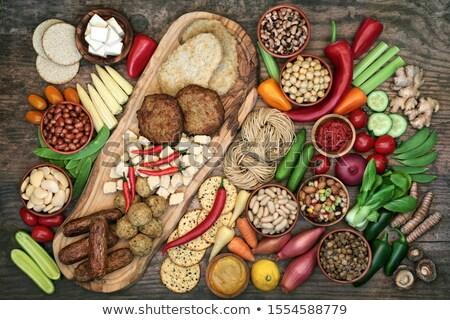 Egészség étel hús golyók kolbászok szójabab Stock fotó © marilyna