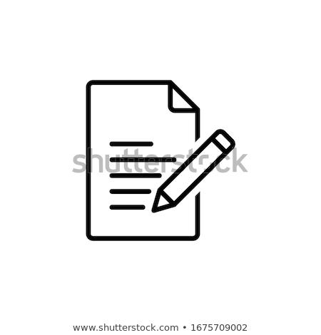 Design gráfico papel lápis ferramentas fino linha Foto stock © yupiramos