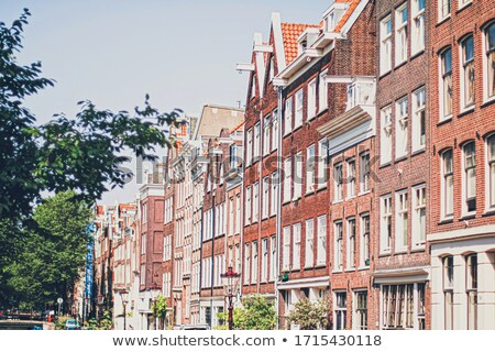 Main downtown street in the city center of Amsterdam in Netherlands Stock photo © Anneleven