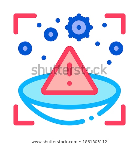 medically unsafe lens icon vector outline illustration Stock photo © pikepicture