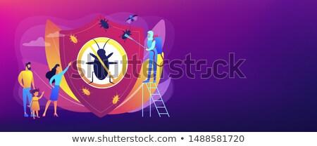 Home plaag insecten controle banner Stockfoto © RAStudio