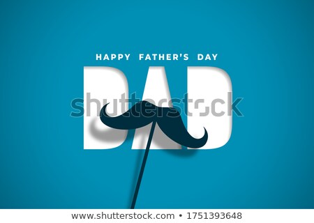 happy fathers day wishes card in papercut style design Stock photo © SArts
