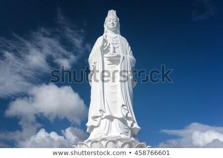 Beyaz Buda heykel bayan pagoda Vietnam Stok fotoğraf © bloodua