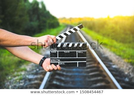 cameraman filming a train  Stock photo © mayboro