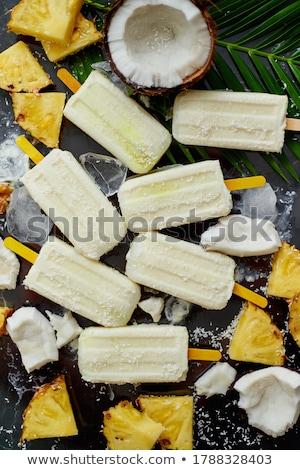 Zomer stick smaak ananas melk rum Stockfoto © dash