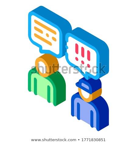 Hombre hablar oficial icono vector Foto stock © pikepicture