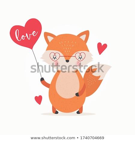 Amor ilustração família floresta engraçado animal Foto stock © adrenalina