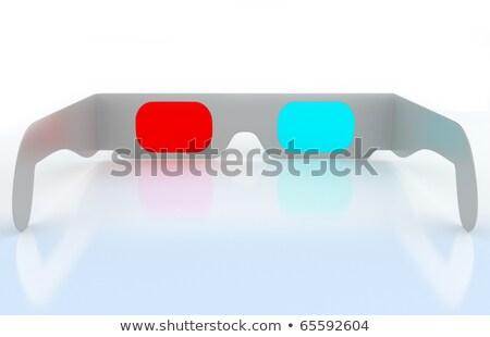 3d Cinema Glasses For Three Dimensional Content Stok fotoğraf © Arsgera