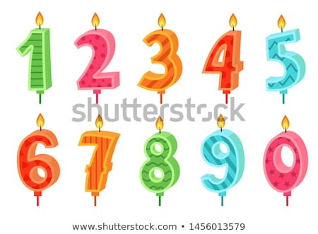 Foto stock: Numbered Candles