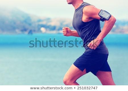Stok fotoğraf: Sağlıklı · adam · çalışma · plaj · spor · açık