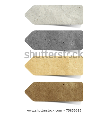 grunge paper tags for recycling  Stock photo © orson