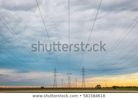 Préri erő vonal magas kapacitás el Stock fotó © SimpleFoto