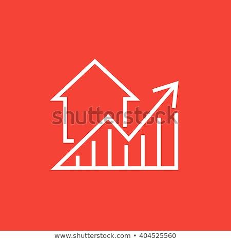 Lakásügy grafikon ingatlan otthon siker diagram Stock fotó © SimpleFoto