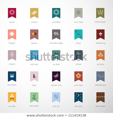 various colorful abstract icons set 2 stock photo © cidepix