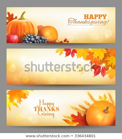 Fresh natural fall vector horizontal banners with leafs  stock photo © orson