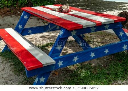 Gwiazdki krajobraz star patriotyczny Zdjęcia stock © fenton