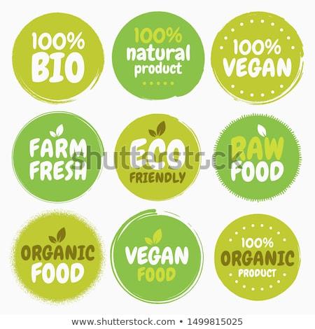 set of bio eco organic labels stock photo © orson