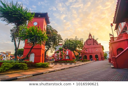 melaka malacca malaysia square with dutch colonial architecture  Stock photo © travelphotography