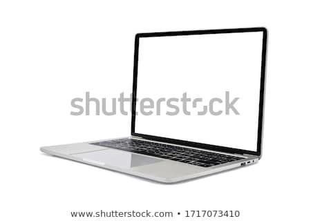 alüminyum · dizüstü · bilgisayar · mavi · eğim · ekran · yalıtılmış - stok fotoğraf © karandaev