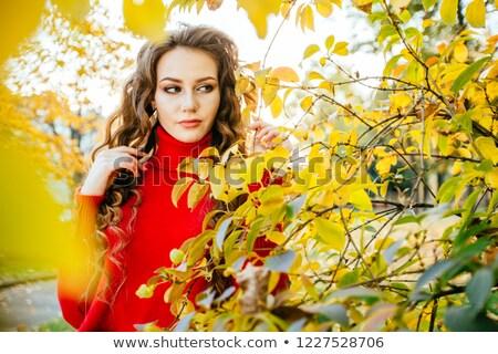 写真 · 面白い · 女性 · 白 · シャツ · 黒 - ストックフォト © petrmalyshev