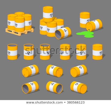 yellow metal barrels Stock photo © oblachko