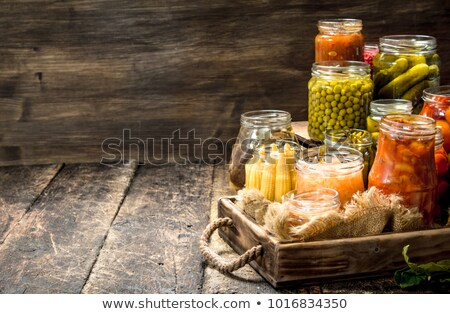 Diverso conservato verdura alimentare conservazione pomodori Foto d'archivio © elly_l