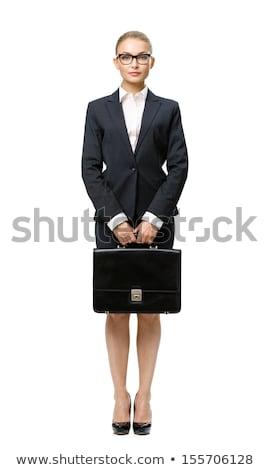 femme · d'affaires · cas · ordinateur · main - photo stock © varlyte
