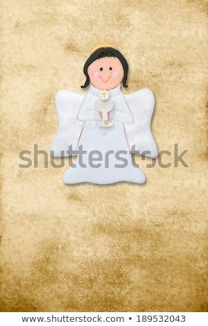 angel first communion riser card Stock photo © marimorena