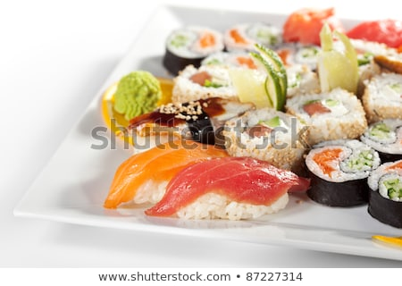 Sushi affumicato anguilla primo piano alimentare pesce Foto d'archivio © Mikko