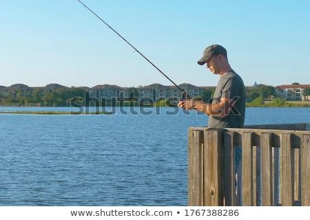 mały · łodzi · pusty · molo · jezioro - zdjęcia stock © alexeys