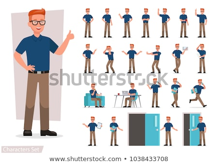 cartoon · violent · homme · bulle · main · design - photo stock © thomasamby