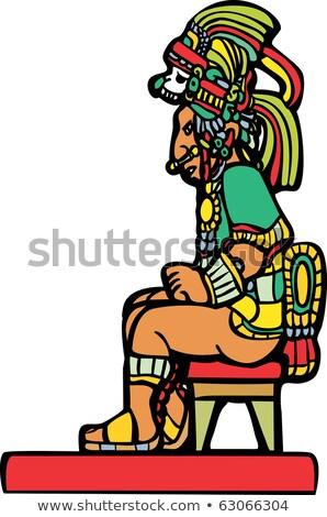 Sitting Mayan Lord Stock photo © xochicalco