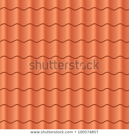 Seamless terracota roof tile - pattern for continuous replicate. Stock photo © Leonardi
