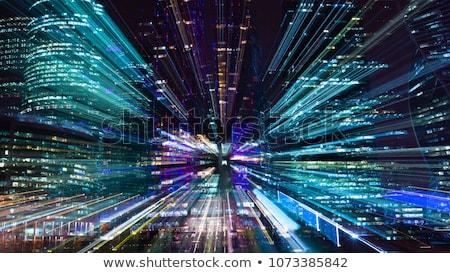 Absztrakt zoom kék kép szép technológia Stock fotó © magann