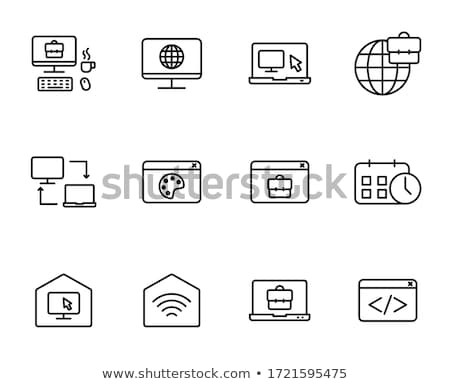 Symbol domu Internetu strony charakter Zdjęcia stock © vlad_star