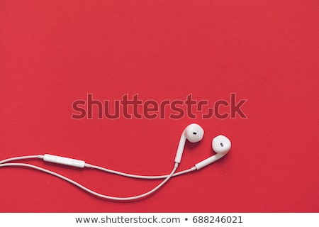 White earphones Stock photo © vankad