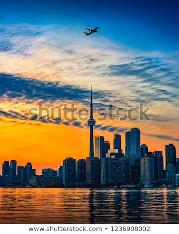 Toronto göl gün batımı ontario Kanada terkedilmiş Stok fotoğraf © ralanscott