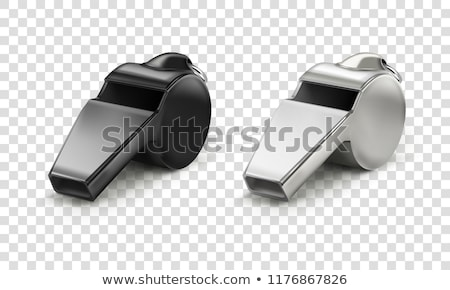 Stock photo: Football with whistle