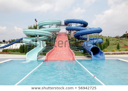 Tobbogans in aqua park Stock photo © artush